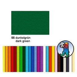 Картон цветной 50*70 Зеленый темный / 300 гр/м