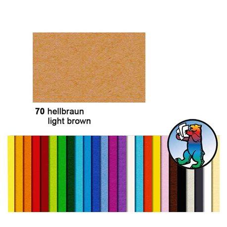 Картон цветной 50*70 Коричневый светлый / 300 гр/м