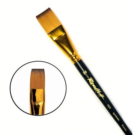 Кисть синтетика плоская №24 кор. ручка колонок имит. Roubloff 1S25