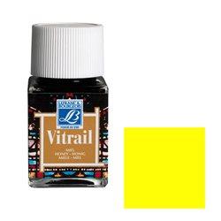 """Краска лаковая прозрачная по стеклу Lefranc Bourgeois """"Vitrail"""" №199 Жёлтая/б.50мл"""
