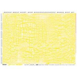 """Декупажный лист """"Кракле желтое с золотом"""" 50х70 /287/"""