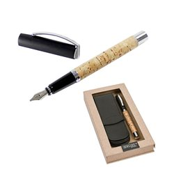 Перьевая ручка Vision Cork пробковое дерево, перо F/ подарочная упаковка