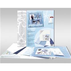 """Набор для Scrapbooking на подрамнике, 40х40 см.""""Зима""""(подрамник, бумага, калька, аксессуары, наклейки)"""
