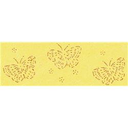 Бумага с объемным блестками 50х70 Бабочки/100 г/м