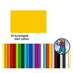 Картон цветной 50*70 Желтый темный / 300 гр/м