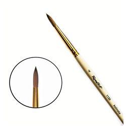 Кисть колонок круг. с наполненной вершиной №4 кор. ручка Roubloff 1150