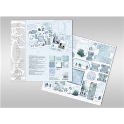 "Набор бирок на листе 30,5 х 30,5 см для серии картона с глиттером ""Зима"""
