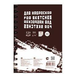 """Блокнот для эскизов и зарисовок """"Sketches"""" А-4 120 л ПОРТРЕТ пружина слева"""