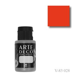 Оранжевый темный 028 ArteDeco, акриловая декоративная краска