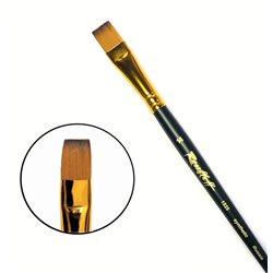 Кисть синтетика плоская №14 кор. ручка колонок имит. Roubloff 1S25