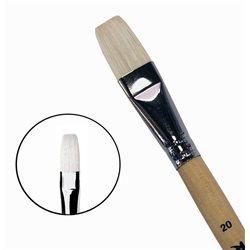 Кисть синтетика+щетина плоская №20 удл.ручка Roubloff 1М22