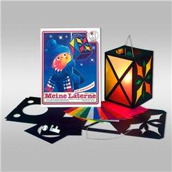 Комплект (1) для изготовления фонарика 16,5х24 см, цвет черный
