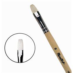 Кисть синтетика+щетина плоская №10 удл.ручка Roubloff 1М22