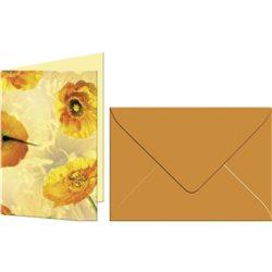 """Набор открыток с конвертами А6,5 пар,""""Флора"""",исландские маки"""