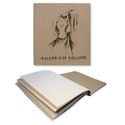 "Альбом для эскизов ""Мода"" 21*21,40л. 20л.-калька+20 л. крафт"