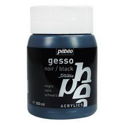 Акриловый Черный грунт GESSO Studio Pebeo/500 мл.
