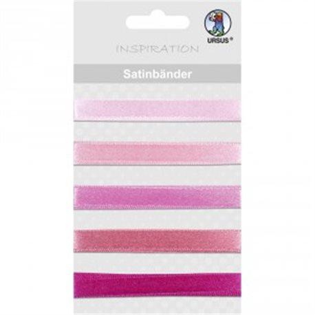 Набор сатиновых лент, 5шт L90 см, розовая гамма цветов