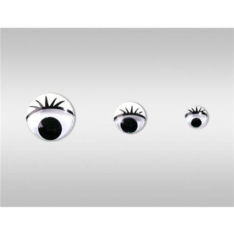 Глазки подвижные. овальные, диаметр 10 мм, 100 шт