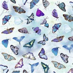 """Бумага для Scrapbooking, калька, 30,5х30,5см, 5 листов, """"Бабочки"""", Синий"""
