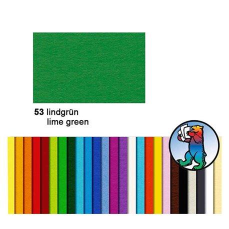 Картон цветной 50*70 Лайм зеленый / 130 гр/м