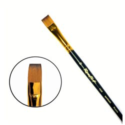 Кисть синтетика плоская №12 кор. ручка колонок имит. Roubloff 1S25