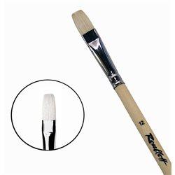 Кисть синтетика+щетина плоская №12 удл.ручка Roubloff 1М22