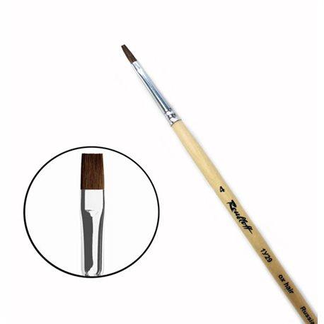 Кисть ушной волос плоский №4 удл.ручка Roubloff 1У29