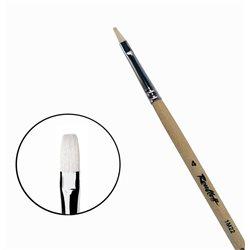 Кисть синтетика+щетина плоская №4 удл.ручка Roubloff 1М22