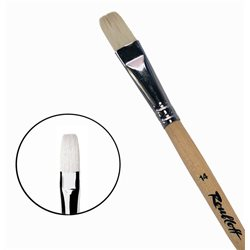Кисть синтетика+щетина плоская №14 удл.ручка Roubloff 1М22