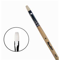 Кисть синтетика+щетина плоская №8 удл.ручка Roubloff 1М22