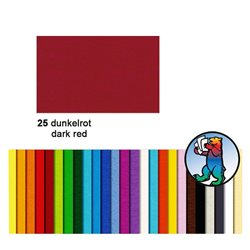 Картон цветной 70*100 Красный темный / 300 гр/м