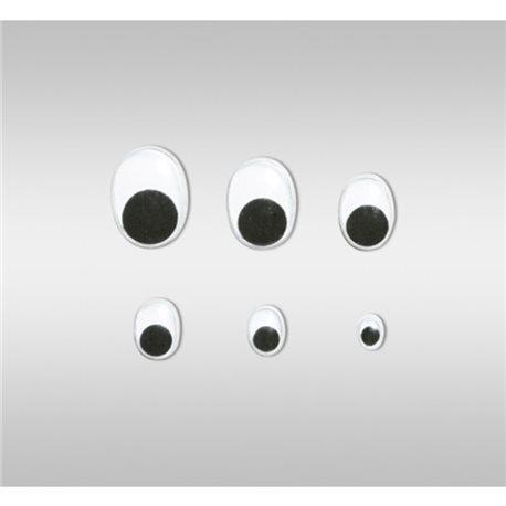 Глазки подвижные. овальные, диаметр 20 мм, 100 шт