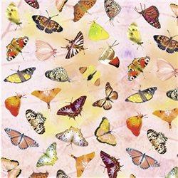 """Бумага для Scrapbooking, калька, 30,5х30,5см, 5 листов, """"Бабочки"""", Бледно-розовый"""