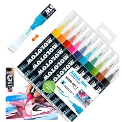 Набор маркеров Molotow 1мм Aqua Ink Базовый I, 10 цв