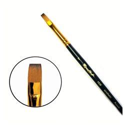 Кисть синтетика плоская №7 кор. ручка колонок имит. Roubloff 1S25