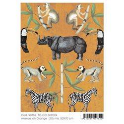 """Декупажный лист """"Африканские животные 1"""", 50 х 70"""