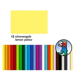 Картон цветной 50*70 Желтый цитрусовый / 300 гр/м