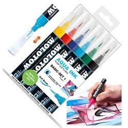 Набор маркеров Molotow 1мм Aqua Ink Базовый I, 6 цв