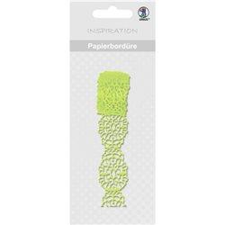 Бумажный бордюр, самоклеющийся, для scrapbooking, L200 см, светло-зеленый