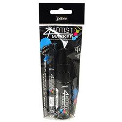 Набор масляных маркеров 4ARTIST MARKER/ Черные, 2 шт, 2 и 8 мм
