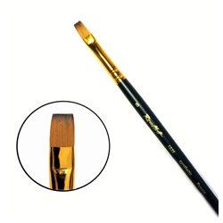 Кисть синтетика плоская №8 кор. ручка колонок имит. Roubloff 1S25