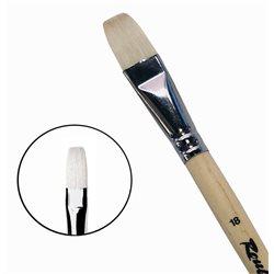 Кисть синтетика+щетина плоская №18 удл.ручка Roubloff 1М22