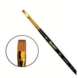 Кисть синтетика плоская №6 кор. ручка колонок имит. Roubloff 1S25