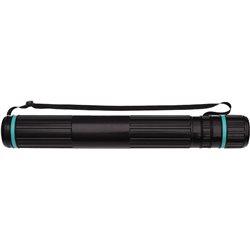 Тубус пластмас. д/чертежей D90мм, L700-1100 мм, на ремне черный