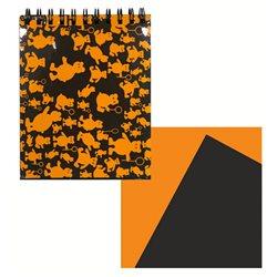 Блокнот Оранжевые мишки формат 145х180, 40 л. плотность 160г.м2, цвет 20 л. чёрный и 20 л. оранжевый