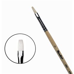 Кисть синтетика+щетина плоская №7 удл.ручка Roubloff 1М22