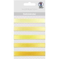 Набор сатиновых лент, 5шт L90 см, желтая гамма цветов