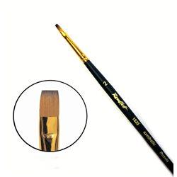 Кисть синтетика плоская №2 кор. ручка колонок имит. Roubloff 1S25