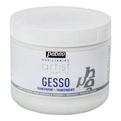 Акриловый прозрачный грунт GESSO Artist Extra Fine Pebeo/500 мл