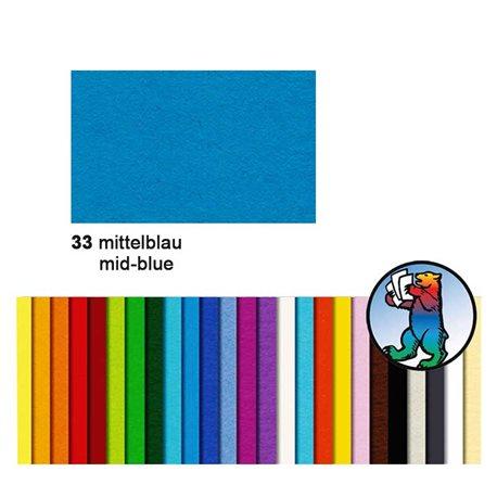 Картон цветной 70*100 Синий средний / 300 гр/м